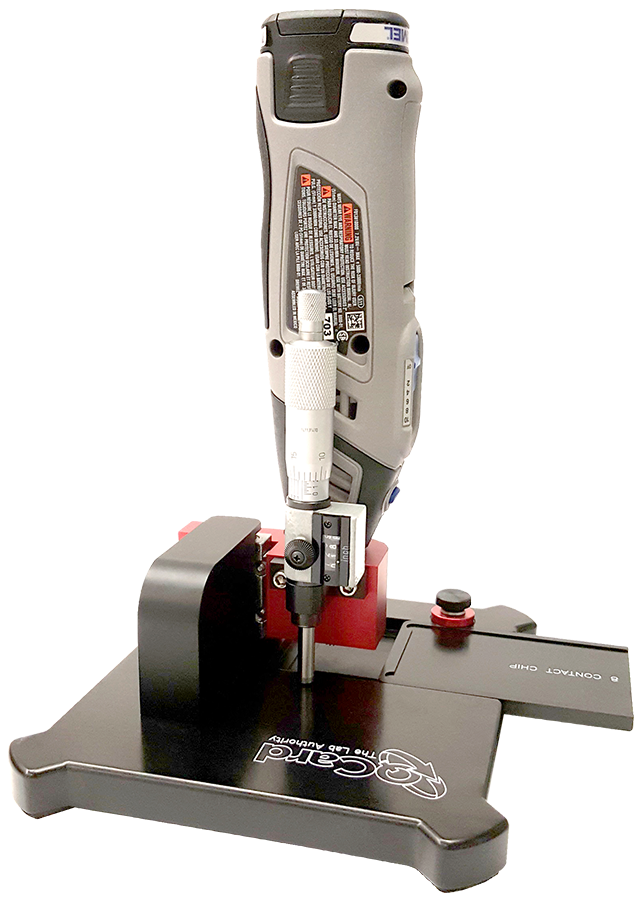 Image of q-card peel tester router tool